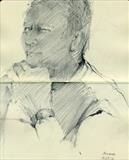Adrian by Cynthia Barlow Marrs SGFA, Drawing, Graphite in A5 Moleskine sketchbook