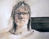 Clare by Cynthia Barlow Marrs SGFA, Drawing, Pastel and ink pencil on paper