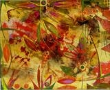 Dragonfly by Cynthia Barlow Marrs, Painting, Acrylic glazes on papers on water colour board