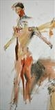 More Spirited Bodies at The Drawing Theatre by Cynthia Barlow Marrs SGFA, Drawing, Pastel and graphite on paper