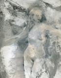 Nereid by Cynthia Barlow Marrs SGFA, Drawing, Gesso, pastel, ink and graphite on paper