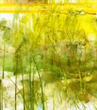 Savanna by Cynthia Barlow Marrs, Painting, Gouache and cut papers on paper