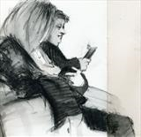Slough Station by Cynthia Barlow Marrs SGFA, Drawing, Ink pencil in sketchbook