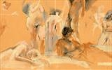 The Drawing Theatre and Spirited Bodies 20 Oct 2012 by Cynthia Barlow Marrs SGFA, Drawing, Pastel and graphite on paper