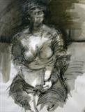 The Long Letter by Cynthia Barlow Marrs SGFA, Drawing, Ink pencil, charcoal, graphite and chalk on paper
