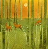 The Pocket Forest by Cynthia Barlow Marrs SGFA, Painting, Acrylic and cut papers on canvas