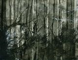 Thicket 2 by Cynthia Barlow Marrs SGFA, Drawing, Ink on watercolour paper
