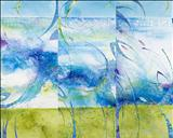 Undercurrents 1 2 and 3 by Cynthia Barlow Marrs, Painting, Mixed Media on Canvas