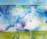Undercurrents 4 5 and 6 by Cynthia Barlow Marrs, Painting, Acrylic and cut papers on canvas