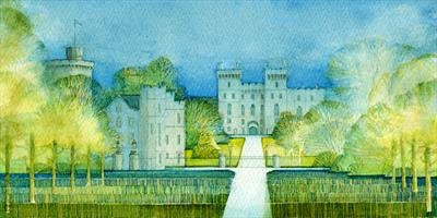 Blue Castle by Cynthia Barlow Marrs SGFA, Painting, Watercolour on Paper