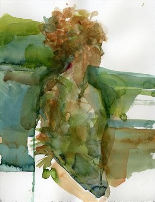 Elle by Cynthia Barlow Marrs SGFA, Painting, Watercolour on Paper