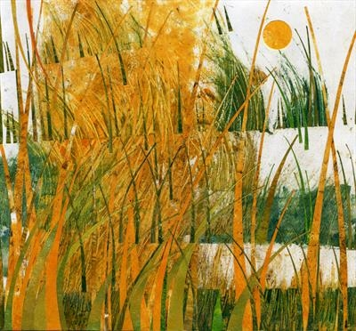 Harvest by Cynthia Barlow Marrs SGFA, Drawing, Ink and cut papers on paper