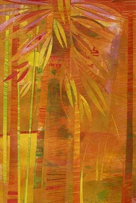 Hot Tropics by Cynthia Barlow Marrs SGFA, Drawing, Ink and cut papers on paper