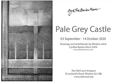 Pale Grey Castle - solo exhibition 03 September - 14 October by Cynthia Barlow Marrs SGFA, Drawing
