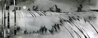 Peninsula by Cynthia Barlow Marrs SGFA, Drawing, Ink on paper