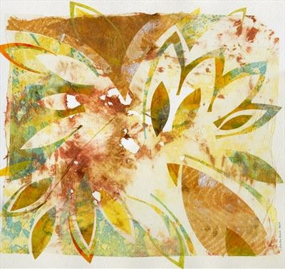 Ragwort 1 by Cynthia Barlow Marrs, Painting, Acrylic glazes on papers on watercolour paper