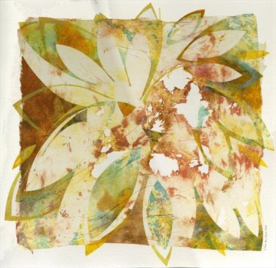 Ragwort 2 by Cynthia Barlow Marrs, Painting, Acrylic glazes on papers on watercolour paper