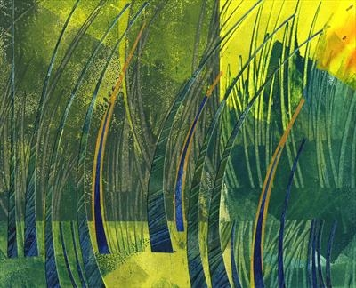 Reed Bed by Cynthia Barlow Marrs, Drawing, Printmakers' ink and cut paper on paper