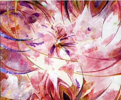 Rugosa 2 by Cynthia Barlow Marrs, Painting, Acrylic glazes on paper on water colour board