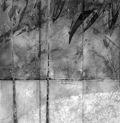 Snow (triptych) by Cynthia Barlow Marrs SGFA, Painting, Gesso and Chinese ink on panel