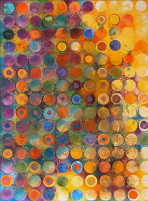 Spheres by Cynthia Barlow Marrs, Painting, Mixed Media on paper