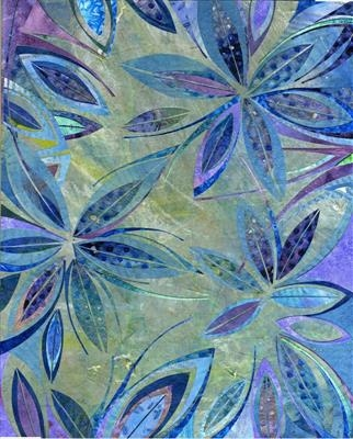 Starflower by Cynthia Barlow Marrs, Painting, Collage