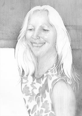 Susie by Cynthia Barlow Marrs SGFA, Drawing, Pencil on paper