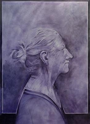 Tinka by Cynthia Barlow Marrs SGFA, Drawing, Pastel on Paper