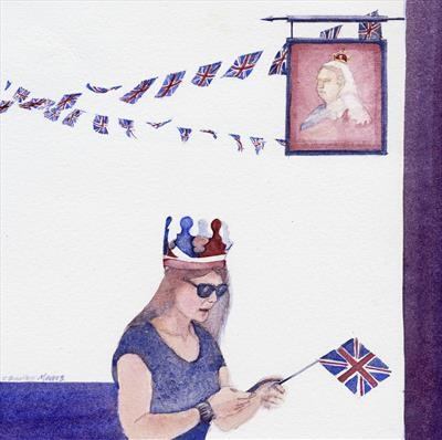 Two Crowns by Cynthia Barlow Marrs SGFA, Painting, Watercolour on Paper